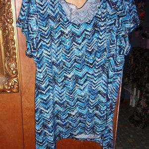 Tops - EUC womens plus size 3x chevron tunic